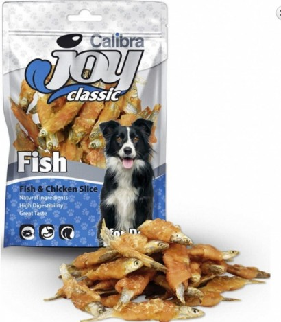CALIBRA Joy Dog Classic Fish & Chicken Slice masový pamlsek 80 g NEW